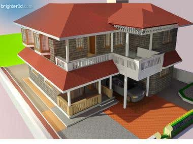 Sketchup 3D Home and Buildings with rendering