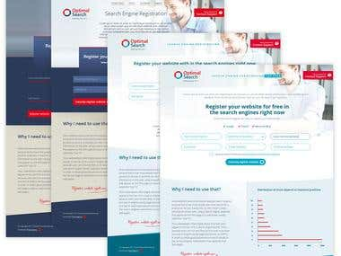 Logo design and website creation for company Optimal Search