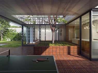 ARCHITECTURAL RENDERING / Brick Home Renders