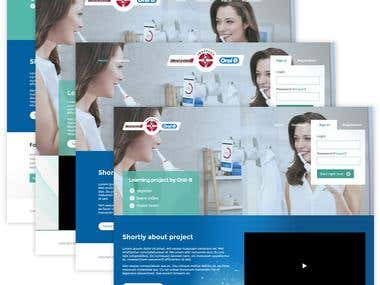 e-Learning website development for Oral-B