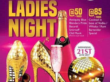 TBT Ladies Night poster