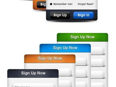 Login and Sign up form psd