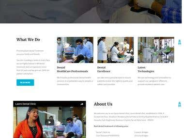 Web Site for a Dental Clinic