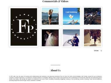 Portfolio Website for Photo & Video Production Company