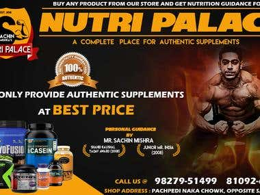 Gym & Protein Supplement Brochure Banner