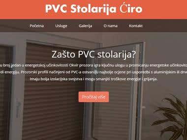 Webiste for company - Joinery Ćiro