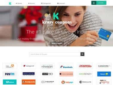 Krazycoupons Coupon Website