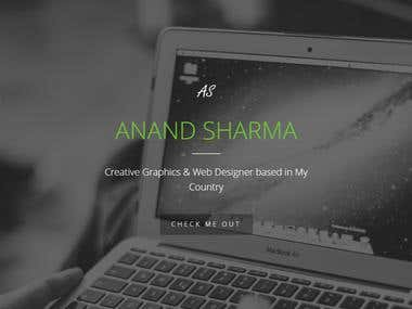 Anand Sharma (Personal Portfolio - One Page)