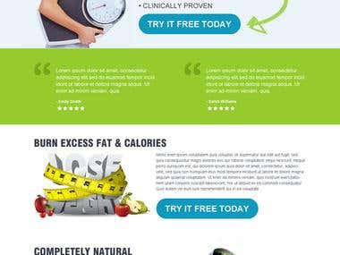 weight loss website resposnsive landing page