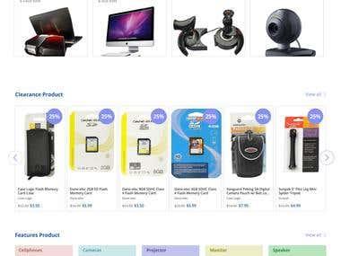 Electronic shop website