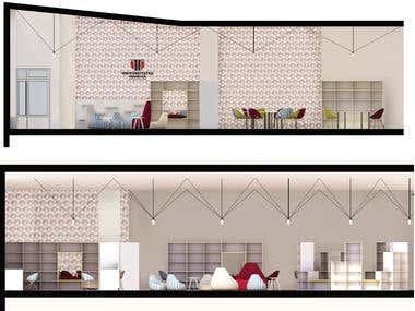 Interior design-University library