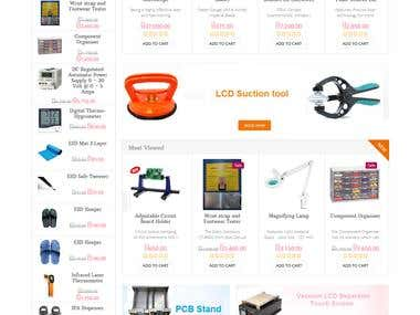 Online Store website on Opencart