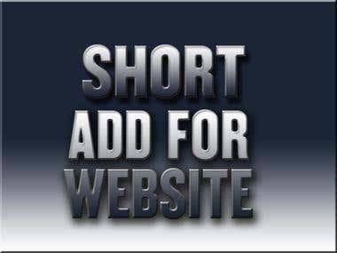 Short advertisement for website (link in description)