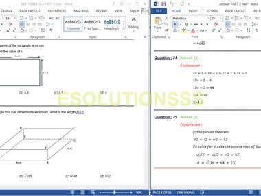 Mathematics Questions and Answers