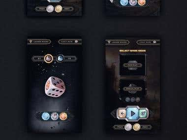 Diceon Game UX UI Design