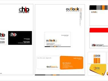 Business card and Latter head  design.