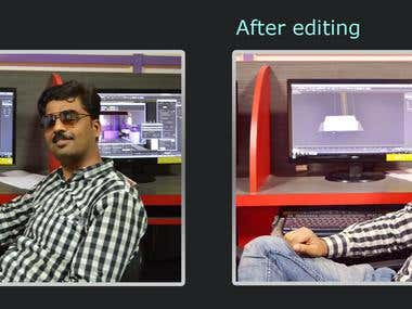 Image Editing(colour correction, Shadow highlight, level )