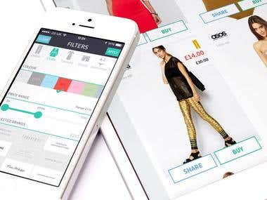 Tinder Style Clothes Shopping App