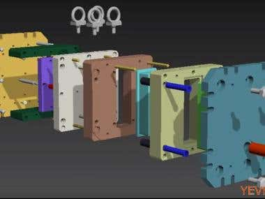 Mold for die casting