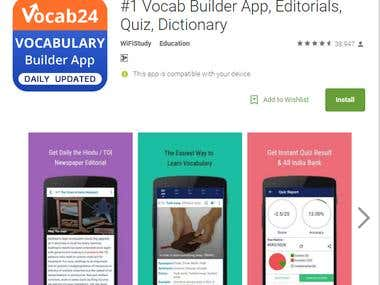 Android Apps: Vocab Builder App