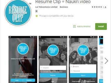 Resume Clip = Naukri.video