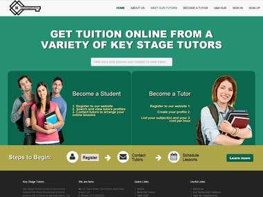 Website for Online Tutors and Tution