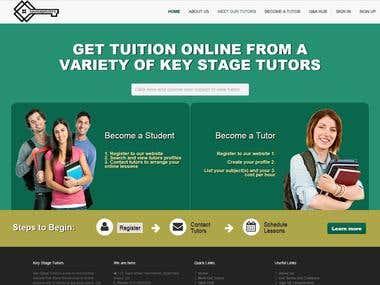 Website for Online Tutors and Tution