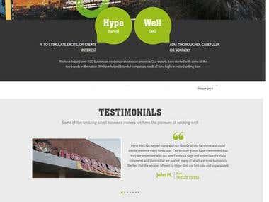 Custom website development for add agency