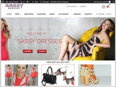 Theme Change & Setup on an e-commerce website