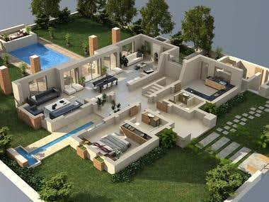 3D Apartment models