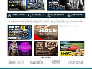 Health product online store
