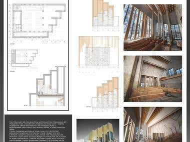 Architectural project of the modern church