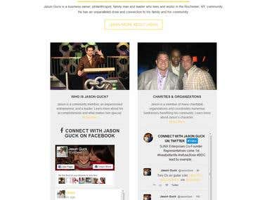 Redesign Jason Guck Website Change into WordPress