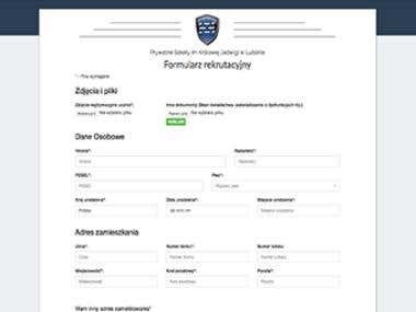 Website for electronic enrollment students to the school