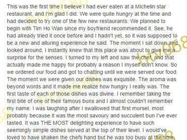 Book & Restaurant Reviews