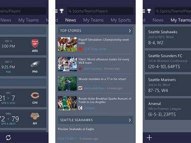 Mobile App: Sports Scores