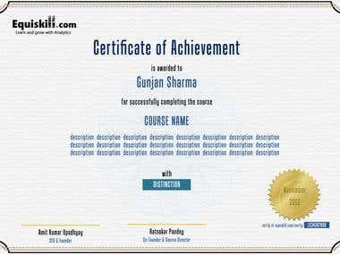Certificates & Brochure
