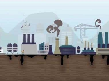 2D environmental animation video