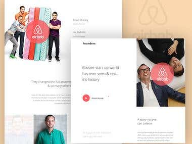 Airbnb - Founder landing page