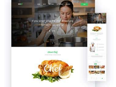 Chef - Resturant landing page design