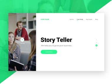 story teller landing page