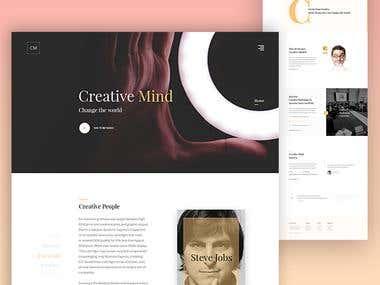 Creative Mind - Landing Page design