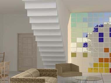 3D Interior design draft