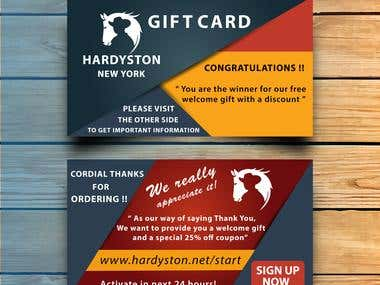 Two sided gift card design