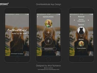 OneWeekModel App Design
