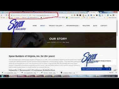 SSL fix & Design Optimize for Spear Builders of Virginia web