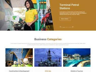 Corporate Website Design Mockup