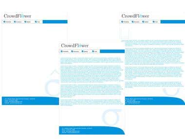 stationery design for crowdflower