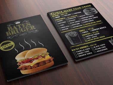 burger Bates flyer
