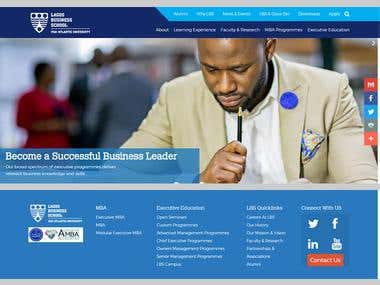 Website Design optimize for Lagos Business School, Nigeria